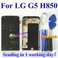"""De alta calidad de nueva digitalizador de pantalla táctil + lcd de repuesto para lg g5 h850 teléfono 5.3 """"color negro con marco"""