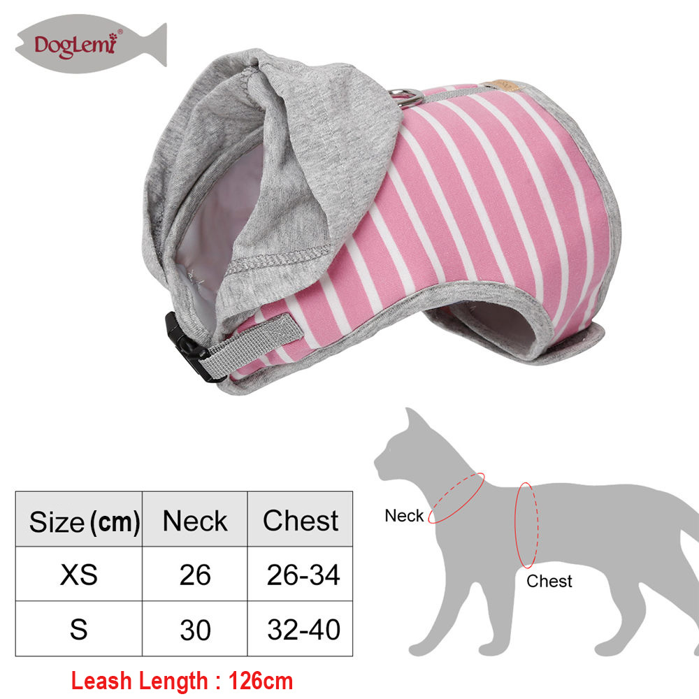 Pet Dog Cat Harness Vest Strap Hat Mesh Breathable Dogs Collars and Harnesses Adjustable Harness Vest for Puppy Cat Pet Supplies in Harnesses from Home Garden