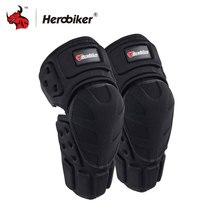 Herobiker Moto наколенники черный защитный мотоцикл Kneepad мотоцикл для кросса Велосипедный спорт наколенники защитные щитки