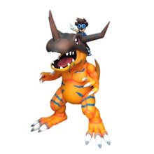 Anime Super Big Size Digimon Agumon Greymon & Yagami Taichi PVC Action Figure Doll Collectible Model Toy kung fu star bruce lee doll pvc action figure collectible model toy 26cm