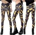 De Las Nuevas Mujeres EE.UU. superhéroe batman logo impresiones elástico culturismo sexy Girl Leggings Pantalones