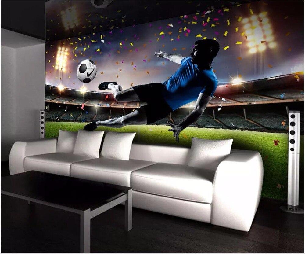 Custom 3d Photo Wallpaper 3d Wall Murals Wallpaper Hd: 3d Wallpaper Custom Photo Mural HD Huge Football Field