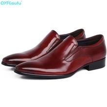 New Genuine Leather Men Oxford Shoes Slip-on Casual Business Men Pointed Shoes Brand Men Wedding Men Dress Shoes цена в Москве и Питере