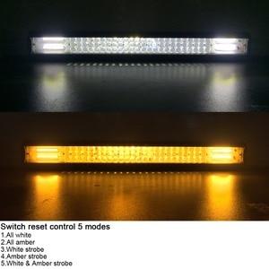Image 2 - Barra de luz Led de 20 pulgadas Combo de inundación para camiones de carretera, barco, SUV, ATV, 4WD, 4x4, Flash estroboscópico de ámbar blanco, luces de trabajo de conducción