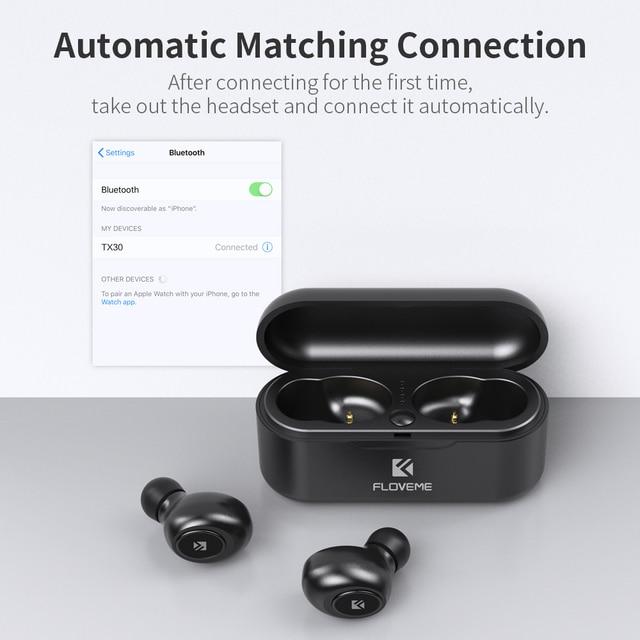 FLOVEME Mini TWS Wireless Headphones Bluetooth 5.0 Earphone Sport Earphones Headset 3D Stereo Sound Earbuds Micro Charging Box 4