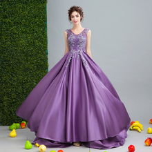 Angel Wedding Dress Marriage Bride Bridal Gown Vestido De Noiva    Romantic flowers, purple 2017  0252