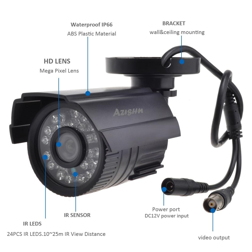 HTB1wciNN7voK1RjSZFwq6AiCFXa4 AZISHN CCTV Camera 800TVL/1000TVL IR Cut Filter 24 Hour Day/Night Vision Video Outdoor Waterproof IR Bullet Surveillance Camera