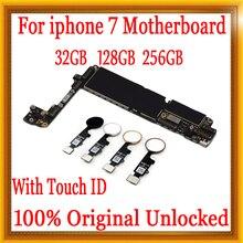 32 ГБ/128 ГБ/256 ГБ для iphone 7 материнская плата с Touch ID/без Touch ID, оригинальная разблокированная материнская плата для iphone 7