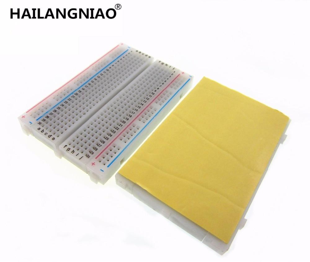 цена на 1pcs DIY 400 Points Solderless Bread Board Breadboard 400 PCB Test Board for ATMEGA PIC UNO