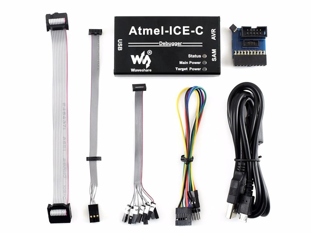 Atmel-ICE-C, PCBA d'origine à l'intérieur, fonctionnalité complète, rentable pour la programmation de débogage des microcontrôleurs Atmel SAM/AVR