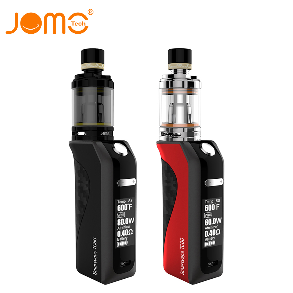 JOMOTECH 80W LED Adjustable 2200mAh Battery 0.4ohm 3.5ml Vaporizer Avoid Liquid Leak Safe Vape Box Mod E Cigarette Kit jomo-267