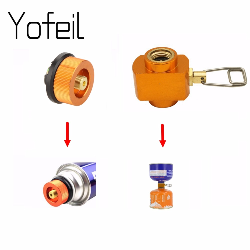 Outdoor Camping Gas Refill Adapter Stove Cylinder Gas Tank Burners Stove Connector Gas Stove Adapter Converter Accessory