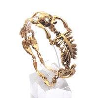 Domineering Personality Creative Bracelet Titanium Steel Skull Men's Bracelet Punk Rock Ornaments