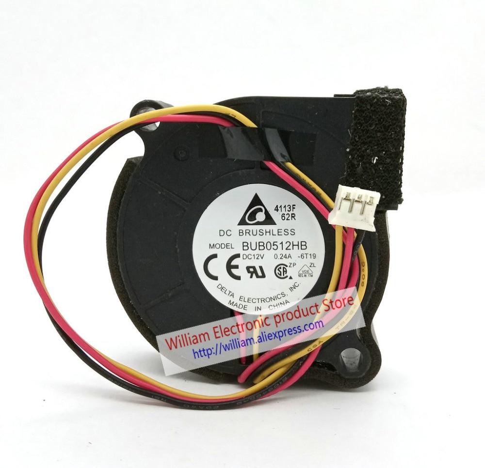 Original Delta BUB0512HB DC12V 0.24A 50*15MM 3Lines Tachometer Signal Blower cooling fanOriginal Delta BUB0512HB DC12V 0.24A 50*15MM 3Lines Tachometer Signal Blower cooling fan