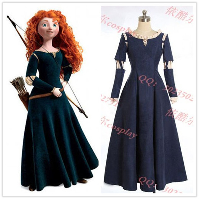 Female Princess Merida Adult Costume Brave Merida Cosplay Dress Film/Movie Party Halloween Costumes Custom & Female Princess Merida Adult Costume Brave Merida Cosplay Dress Film ...