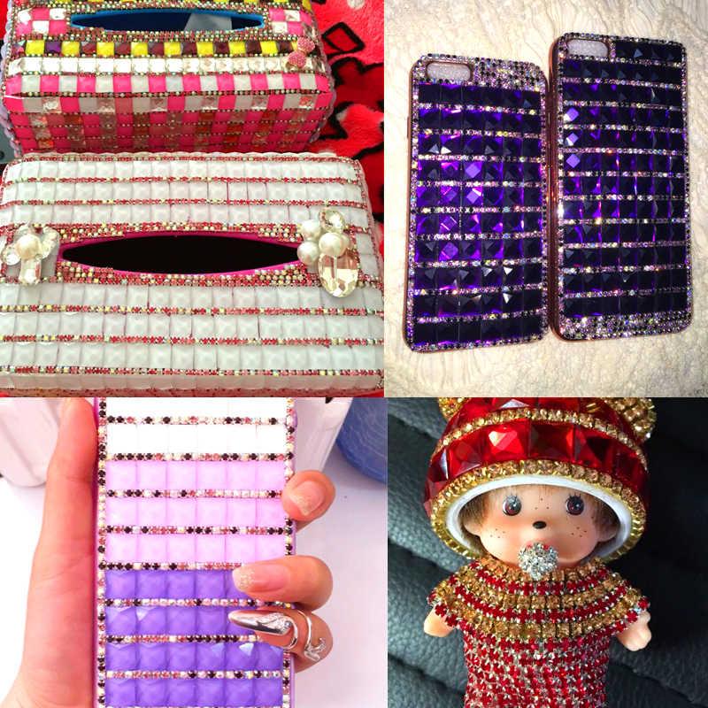 Najniższa cena SS6 jasny kryształ strass termoadhesivos wszystkie kolory dżetów w rzemiosła do szycia na łańcuchu do zbrylania dekoracji
