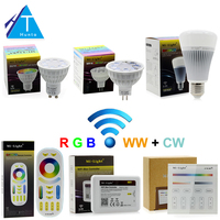 Mi Light Full Color LED Bulb LED Spotlight GU10 MR16 4W E27 8W RGB CW WW