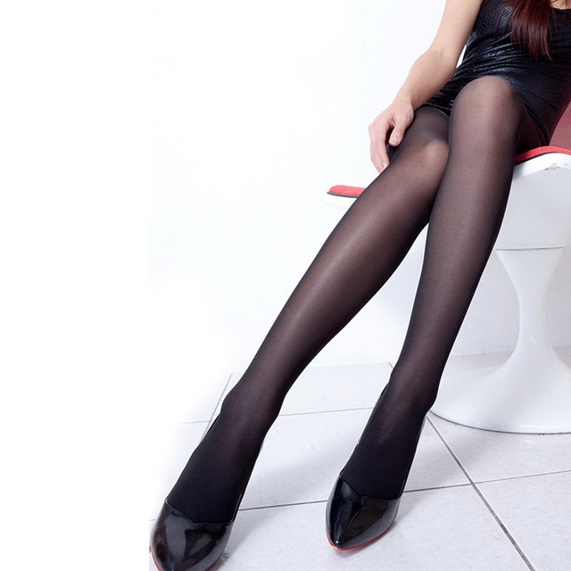 7592d5cc419 ROPALIA Sexy Women Full Foot Thin Sheer Pantyhose Tights Base Stocking  Black seamless pantyhose Clothes