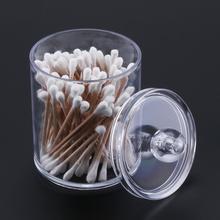120 шт косметические ватные палочки с двойной головкой чистые ватные палочки инструменты для чистки ушей с цилиндрическим акриловым ватным тампоном чехол