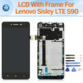 ЖК-экран для Lenovo Sisley S90 LTE ЖК-дисплей с сенсорной панелью дигитайзер рамка полная сборка замена экран черный белый