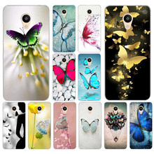 44DF Butterfly Stand On The Cat Nose Hard Transparent Cover Case for Meizu M2 M3S M3 M3S M5S Mini M3 note M5 M6 M6 note U10 U20(China)