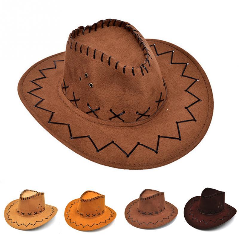 chapeau Cowboy Hats Fashion CowboyHat For Kid Boys Party Costumes Cowgirl  Cowboy Hat sombrero leather Costumes 78997e287508