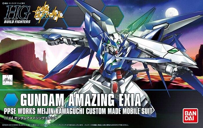 1PCS Bandai HG Build Fighters HGBF 016 1/144 Gundam Amazing Exia Mobile Suit Assembly Model Kits Anime action figure Gunpla ohs bandai mg 179 1 100 sengoku astray gundam mobile suit assembly model kits