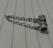 2016 1pcs fashion Silver Screw Hole Safety Chain Charm Beads,women DIY Thread Jewelry Bracelet European