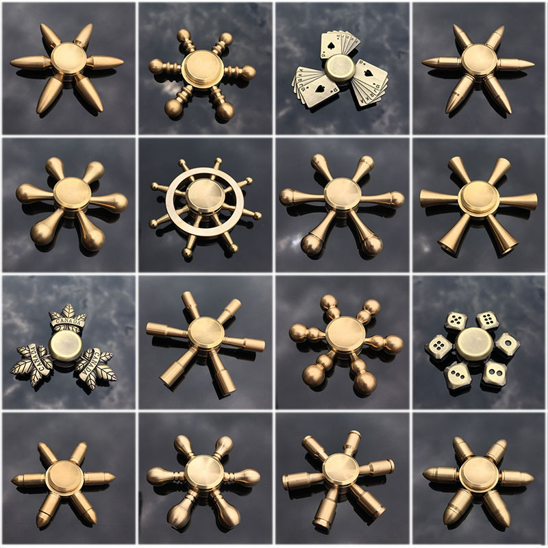 Big Size High Quality Cool Vintage Pure Copper Finger Spinner Hand Spinner Finer Spinner Toy Adult Toys Metal Copper 65mm-77mm