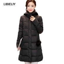 Nice New Women Winter Jacket Hooded Long Zipper Slim Warm Coat Female Basic Padded Zipper Cotton Long Fashion Parkas