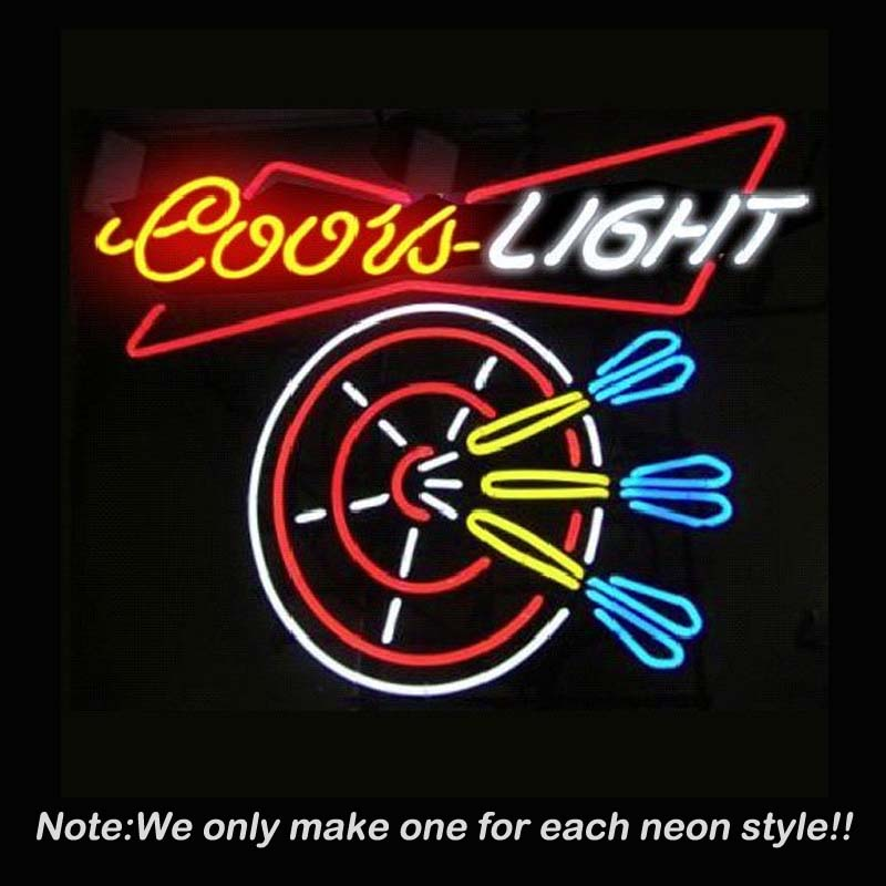 New Hot Coors Light Dart Handcrafted Beer Bar Pub Neon Sign Bright