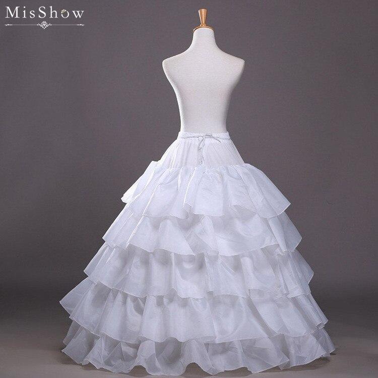 MisShow High quality Ruffle Red Black Underskirt Wedding Petticoats Ball Gown Crinoline Petticoat Wedding Accessories