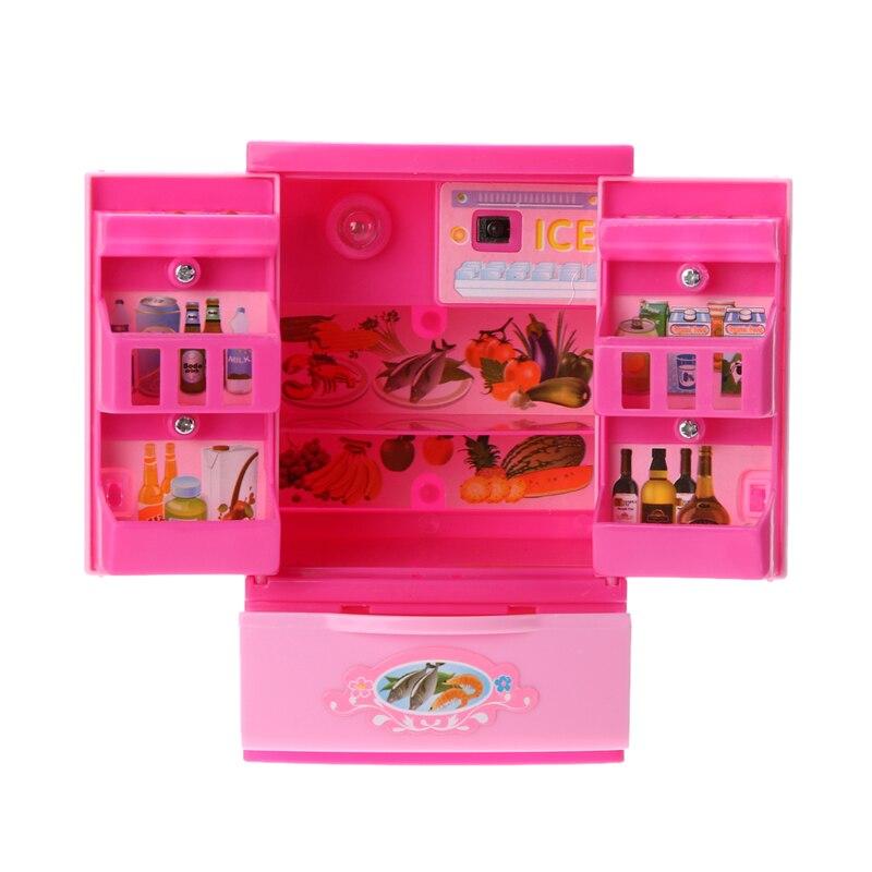 Rosa Simulierte Kühlschrank Spaß Kids Pretend Rolle Spielen ...