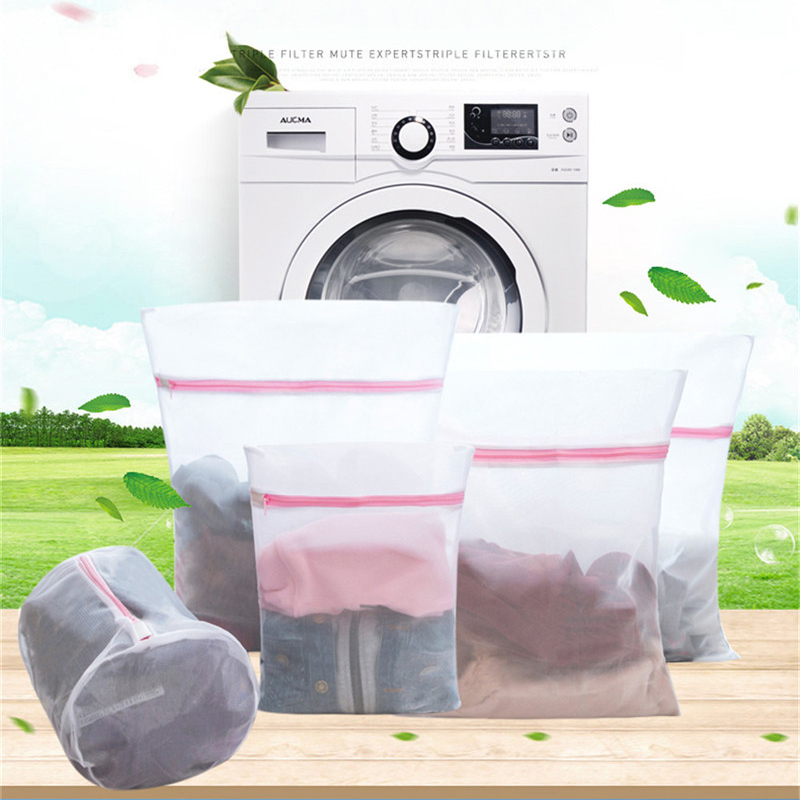 Hot Sell Hanging Dry Bra Washing Bag Cloth Laundry Mesh Net Sneaker Storage Polyester Underwear Protective Washing Bags