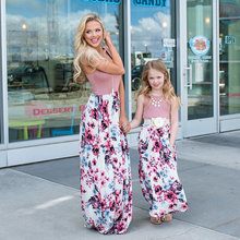 0156b575468 Mère fille robes maman et moi bohème fleurs longue maman et fille robe  enfants maman fille tenues famille correspondant vêtement.