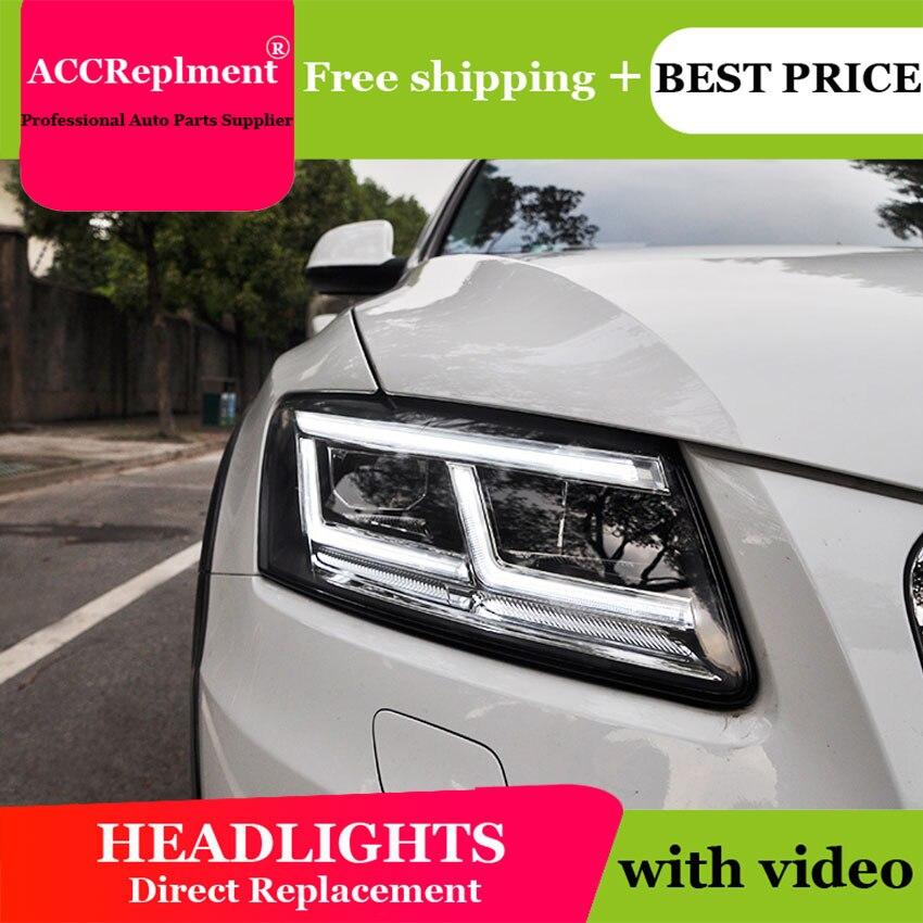 Style de voiture pour Audi Q5 phares 2009-2018 Q5 phare LED DRL lentille Double faisceau H7 caché xénon bi xénon lentille