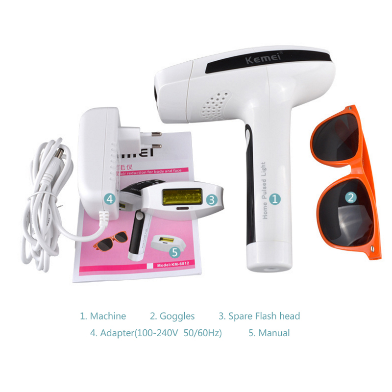 IPL Permanent Painless Laser Hair Removal Photon Pulsed Lady Epilator For Whole Body Bikini Women Electric Epilator 100-240V цена 2017