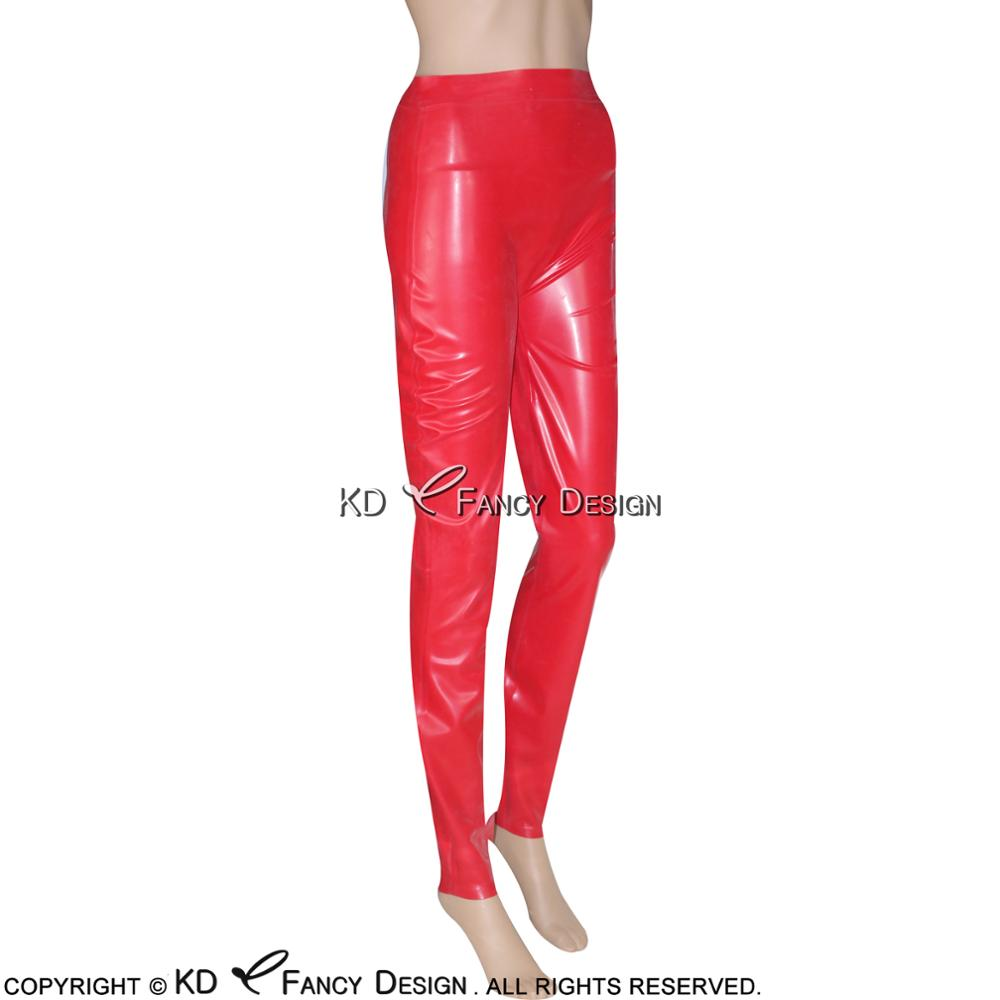 Punk Gothic Splice Frauen Leggings Elastische Taille Sexy Leder Leggings Splice Aushöhlen Dünne Leggings - 4