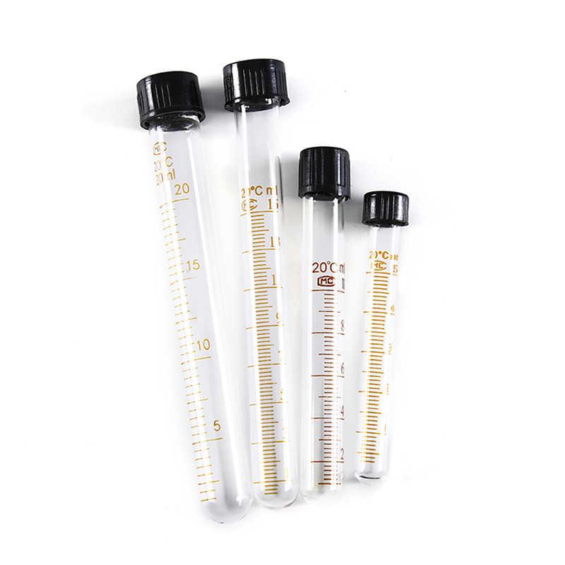 1 Pcs 5 ml/10 ml/15 ml/20 ml Absolvierte Glas Test Rohre Mit Schwarz Schraube kappe Labor Liefert