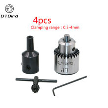 Mini Electric Drill Chuck 0.3-4mm JTO Taper Mounted Lathe Chuck PCB Mini Drill Press For Motor Shaft Connecting Rod 3.17mm(China)