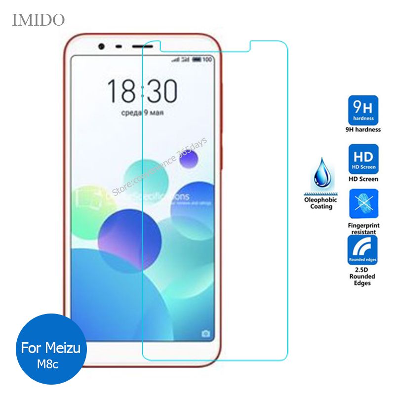 For Meizu M8C Tempered Glass Screen Protector 2.5 9h Safety Protective Film on M 8C M810L M810H