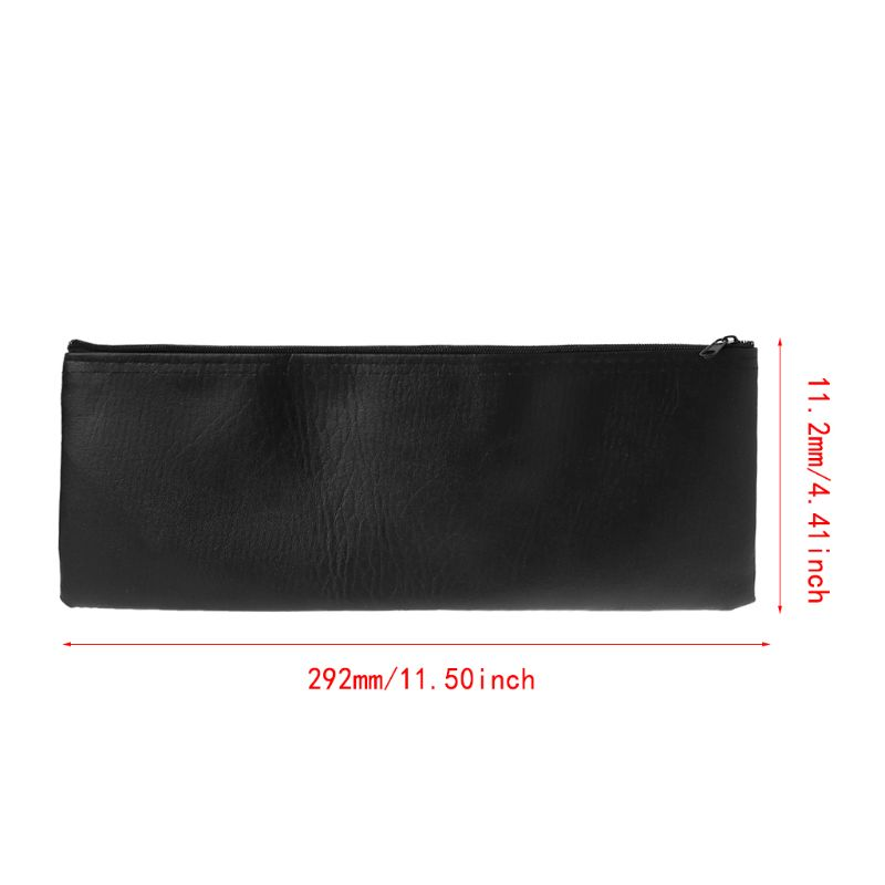 Handheld Bag Pouch Zipper Case Leather Storage Holder Organizer Accessories For Wireless Microphone