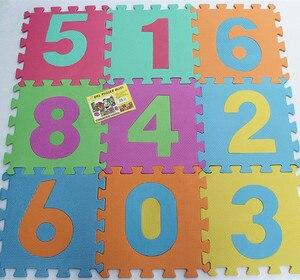 10 sztuk/zestaw 30x30x0.8cm moda Puzzle dywan mata do zabawy dla dzieci mata podłogowa z puzzli EVA dzieci dywan piankowy mozaika podłoga