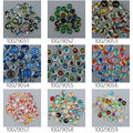 50pcs 10mm round pattern glass cabochon,mixed pictures,flat back,thickness 4mm-100290