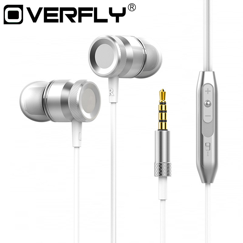 Stereo Metal Earphone Strong Bass Music Headset Hands Free Headphone 3.5mm Jack with Mic for All phone MP3 MP4