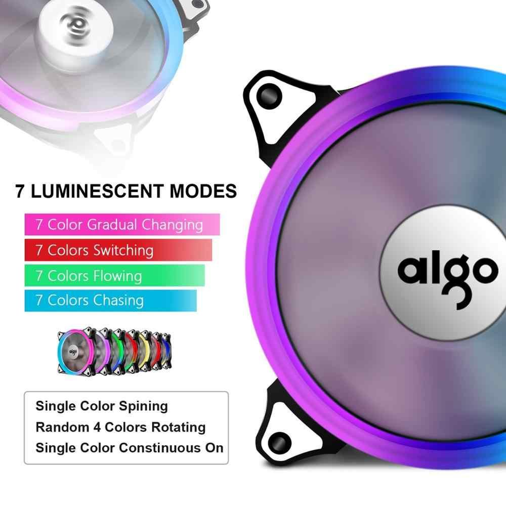 DarkFlash Aigo C3 กรณีคอมพิวเตอร์ PC พัดลมระบายความร้อน Aura Sync 3 P - 5 V RGB แฟนปรับ 120 มม. quiet IR Remote Cooler Cooling พัดลม LED