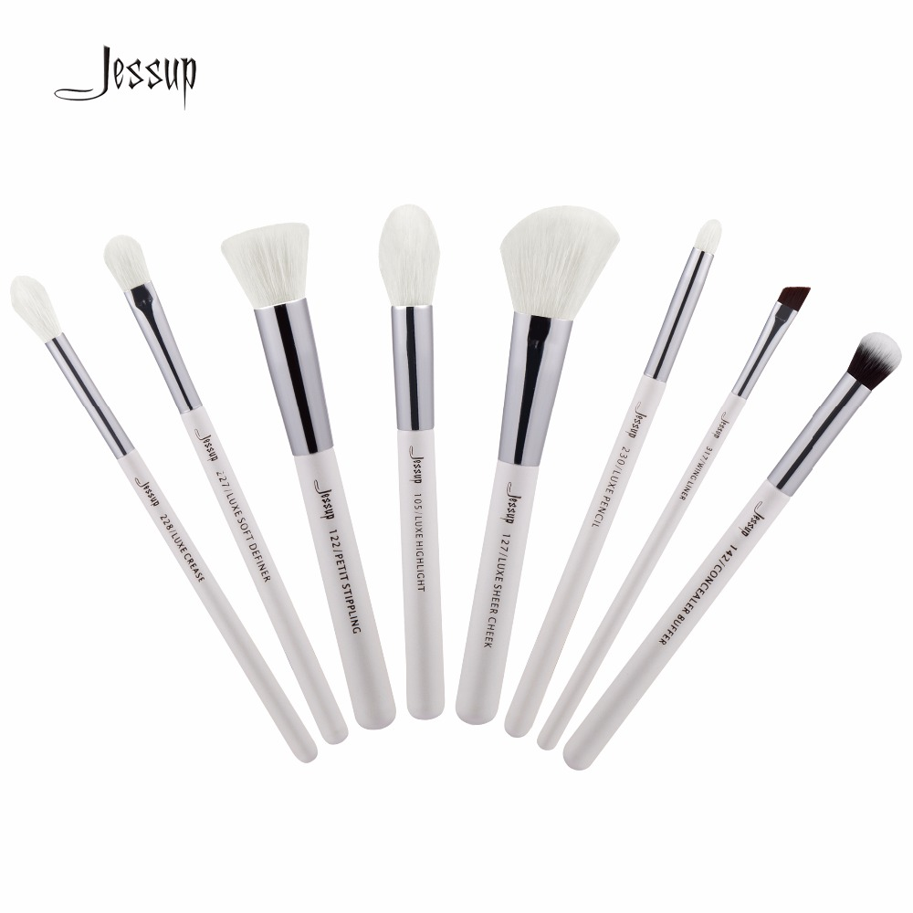 Jessup Brushes 8pcs Professional Makeup Brushes Set Cosmetics Brush Tools kit Foundation Stippling T238 147 pcs portable professional watch repair tool kit set solid hammer spring bar remover watchmaker tools watch adjustment