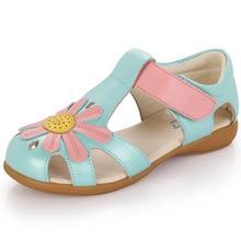 2017 Été princesse fleur sandales enfants chaussures filles de haute qualité confort sandales chaussures enfants sandales plates taille 26-37