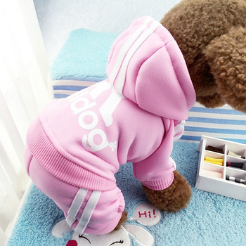Winter Warm Pet Dog Clothes Four-legs Sports Hoodies For Small Dogs Chihuahua Pug French Bulldog Clothing Puppy Dog Coat Jacket