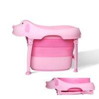 Baby Folding Bath Barrel Child Plastic Bathtub Baby Bath Tub Large 6 Months To 10 Years Old